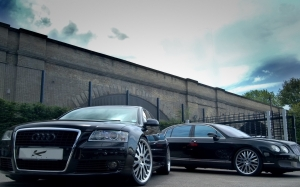 Audi A8 y Bentley Continental
