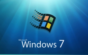 Viejo logo y Windows 7