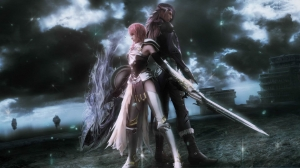 Lightning y Caius - Final Fantasy XIII-2